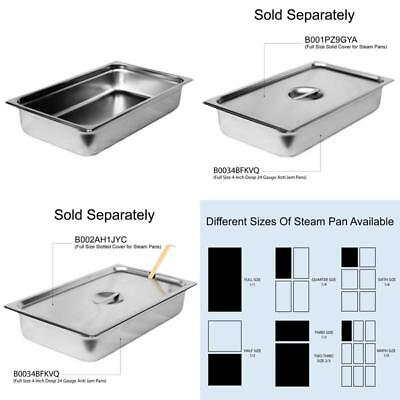 """Steam Table Pan Full Size 4"""" Deep Stainless Steel Catering Buffet"""