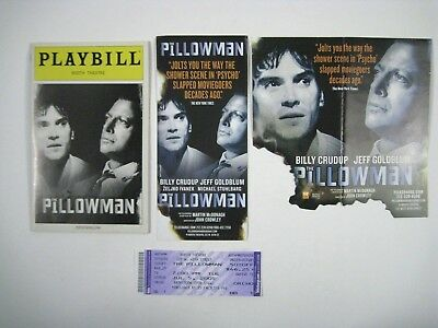 The Pillowman Playbill 2005 Booth Theatre Ticket Jeff Goldblum Billy Crudup
