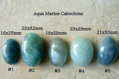 Aquamarine Cabochons Sea Green blue 5 cabochons to choose from