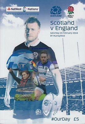 Scotland  v England -  Rugby Union 6 (Six) Nations - 24 February 2018 - In Stock