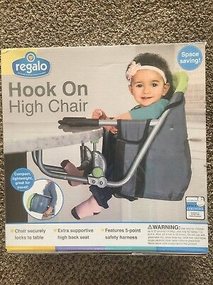 Regalo Easy Diner Portable Hook On High Chair Baby Table   Green