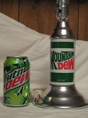 Vintage Pepsi Mountain Dew Collectable Table Lamp - Never Used -