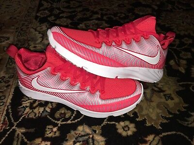 New Mens Nike Vapor Speed Turf Football Shoes Red White 833408-616 size 12