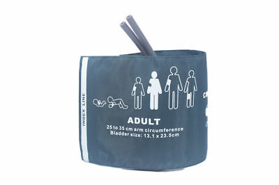 New Reusable Adult double tube with Bag NIBP Cuff  25-35cm  no connector