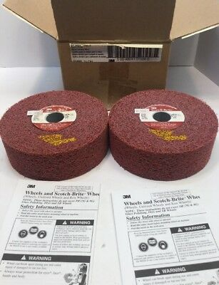 "(2) 3M Scotch-Brite 6"" x 2"" x 1"" Metal Finishing Wheels 61-5000-3790-0 with Box"