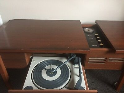 1970s Monarch Stereogram Vinyl Record Player Coffee Table