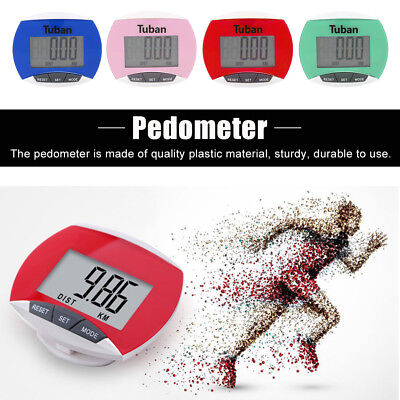 LCD Pedometer Step Walking Jogging Calorie Counter Distance Fitness Clip ST