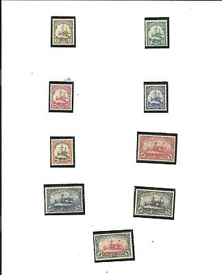 German South West Africa - 9 Stamps 1906 - 1914 Scott Catalog # 26 - 34
