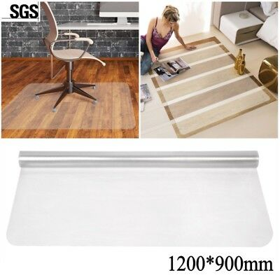 Frosted Non-Slip Office Chair Desk Mat Floor Carpet Proector PVC Clear Home UK