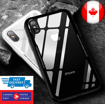 For iPhone Case Protective Clear Tempered Glass Shockproof Case Cover - CA SHIP