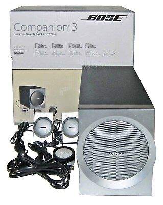 【MINT in BOX】Bose Companion 3 PC Audio 2.1 Speaker Subwoofer System! MP3/iPod