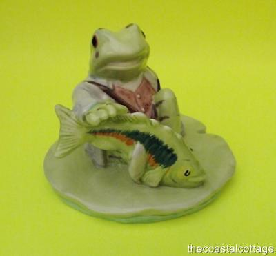 Beatrix Potter Jeremy Fisher Catches A Fish Figurine 1999 BP10A Beswick England