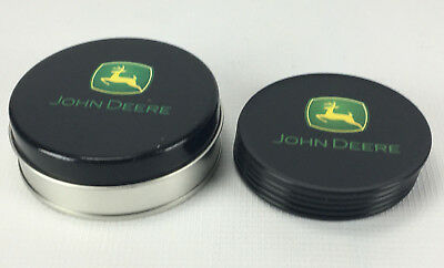 Set of 6 John Deere Plastic and Cork Coasters in Metal Storage Tin