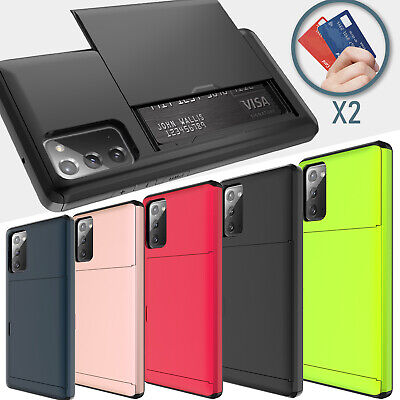 For Samsung Galaxy S20 Ultra 5G/Note 10 Plus/S10/S9 Case With Card Wallet Holder