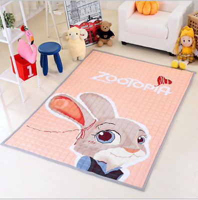 Large 200x150cm Soft Rectangle Baby Kids Play Mat Floor Rug Crawling Blanket