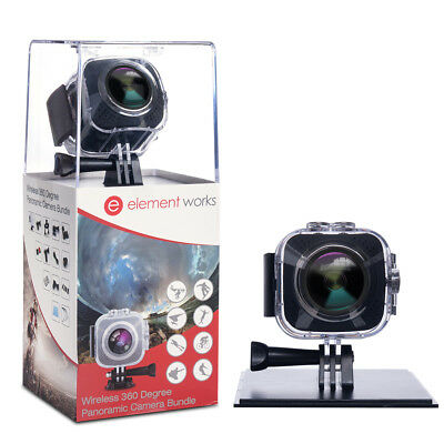 Element Works Wireless 360 Degree Panoramic Camera Bundle With Accessories