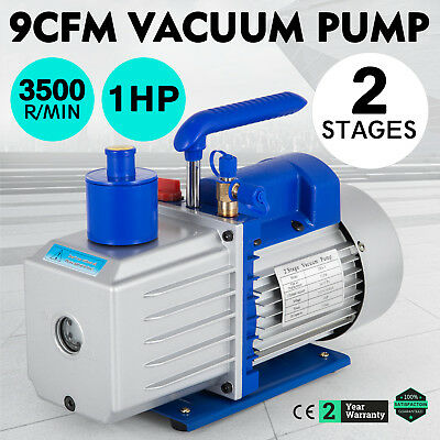 9CFM 2 Stages 1HP Refrigerant Vacuum Pump Easy operation Rotary Vane Dual Stage