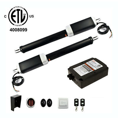 ALEKO ETL Listed Accessory Kit Gate Opener For Swing Dual Gates Up To 1300-lb