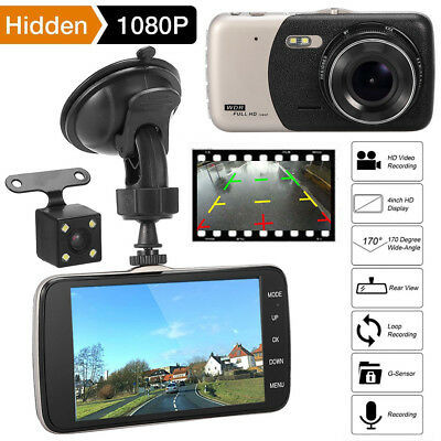 4'' Auto Kamera Rearview Recorder KFZ DVR Dashcam HD 1080P Video Nachtsicht 170°