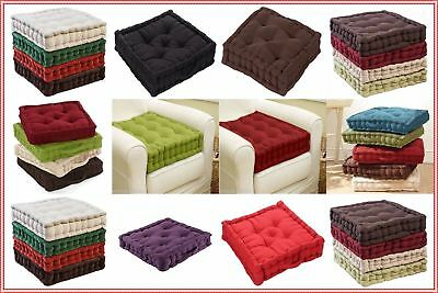 Chunky Adult Booster Cushion Thick Seat Pads Adults Chair Armchair Multi Colours