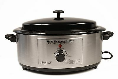6 Quart Heater for Hot Stone Massage + Hot Stone Music CD and Scoop