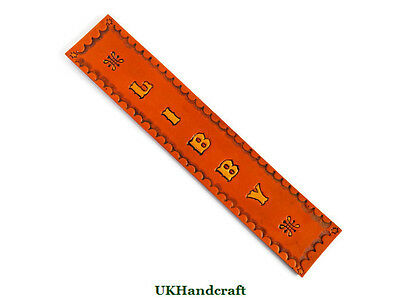 Personalised Leather Bookmark Handmade in Great Britain by UKHandcraft