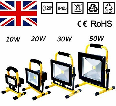 LED Rechargeable Cordless Mobile Portable Work Site FloodLight Camping Fishing