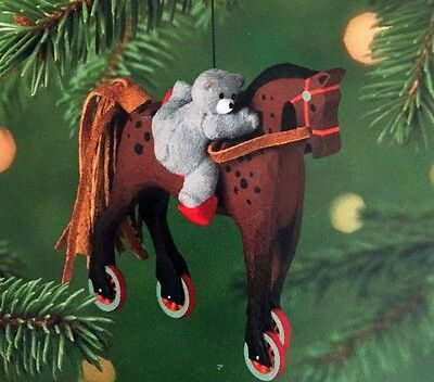 A Pony For Christmas 2001 Hallmark Christmas Ornament QX6995 4th in the series