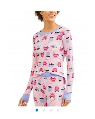Toast and Jammies women thermal top and bottom pajamas set pink Cocoa style M