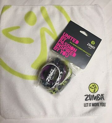 Zumba NEW 8 Rare BRACELETS, Towel set lot Hard To Find NWT R R Remix