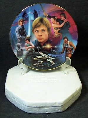 Star Wars Luke Skywalker Plate Hamilton Collection Heroes Villains Collection