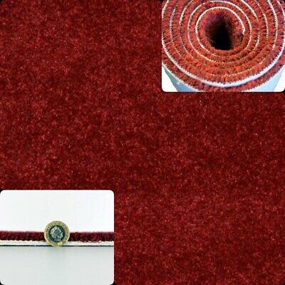 HARDWEARING - CHEAPEST 11mm Thick Red Felt Back 5m Wide Carpet £6.50m²
