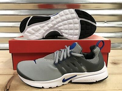 Nike Presto Grade School Running Shoes Wolf Grey Game Royal SZ ( 833875-014 )