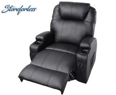 Massage Recliner Sofa Chair Deluxe Ergonomic Lounge 2 PC