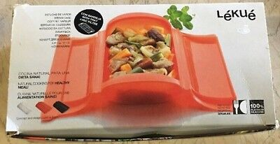 Steam Case With Draining Tray, Beginner Survival Cookbook LEKUE, Green 2c