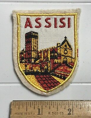 Basilica of Saint Francis of ASSISI Italy Italia Souvenir Embroidered Felt Patch