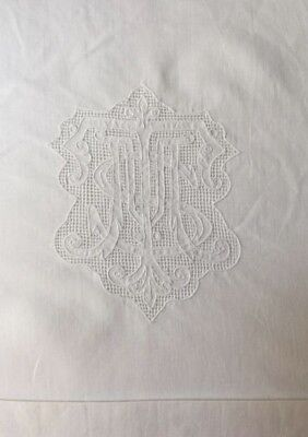 Stunning Vintage Antique French Pillow Sham Large