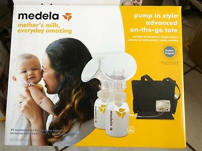 2017 Medela Pump In Style Advanced Breastpump on the go tote Sealed # 57063 NIB