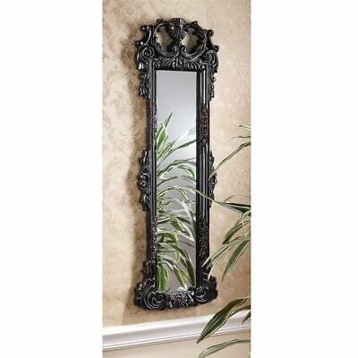 """Antique Replica Victorian Style Hand-Carved Solid Mahogany 36"""" Wall Mirror"""