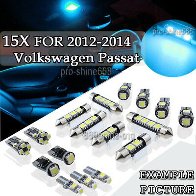 Car & Truck LED Light Bulbs 11x Canbus Blue Interior LED Lights Package Kit for 2011-2016 VW Jetta MK6 PL