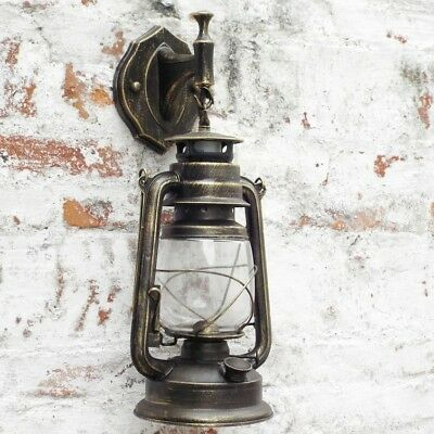 Wall-Light Vintage sconce Industrial Antique Retro Old Cage Brass lamp