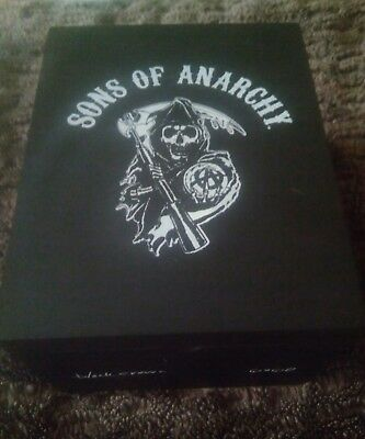 SONS OF ANARCHY CIGAR BOX - All Wood Design - Empty - Many Cool  Uses!