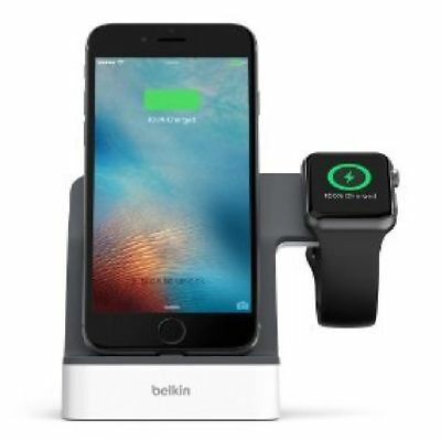 Grey-White Belkin PowerHouse Charging Station For iPhone & For Apple Watch 1,2,3