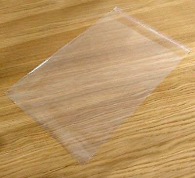 100 x A5 C5 Clear Cello Bags for Documents - Peel and Stick - Resealable