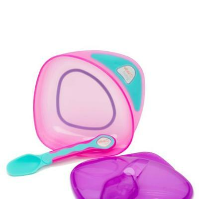 Vital Baby On The Go Weaning Set Pink/purple