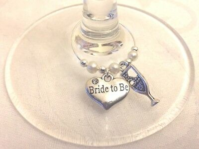 Top Table Prosecco Wine Glass Charm B1G1F Bride to Be Groometc Hen Night Wedding