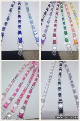 ❤️Dummy Clip CIips Strap❤️Plastic CIip.Any Name..No Metal.
