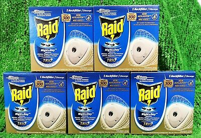 (5,46€/PK) 5x Pack  Raid Night & Day INSEKTENSTECKER Schnakenstecker NACHFÜLLER!