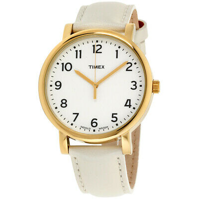 Timex Originals Classic White Dial Leather Strap Unisex Watch T2P170