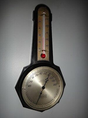 Antique MotoMeter MotoCo Bakelite Barometer Thermometer Weather Station G&E Corp